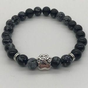 Jewelry - ✨🐾Natural Stone Bracelet with Dog Paw Charm🐾✨